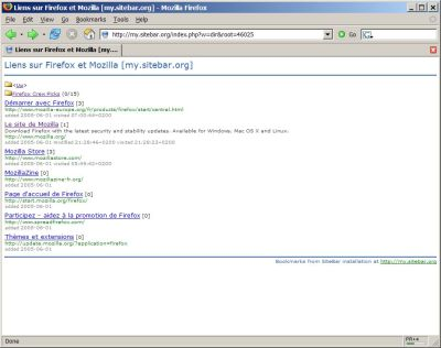 SiteBar Screenshot - Click to show its full size