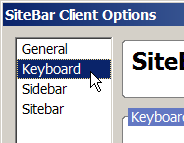 Firefox Extension Keyboard Preferences